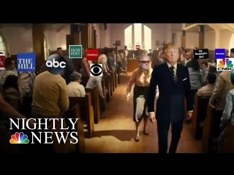 WH Trying To Distance Trump From Video Showing His Likeness Attacking News Media | NBC Nightly News