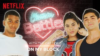 On My Block Cast Tests Their Fave Pickup Lines | Charm Battle | Netflix
