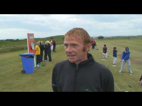 Junior golf clinic at Ryder Cup Wales Seniors Open