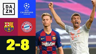 Bayern-Tornado fegt über Barca hinweg: FC Barcelona - FC Bayern 2:8 | UEFA Champions League | DAZN