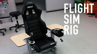 Flight Sim Rig - Full Aluminium with Thrustmaster Warthog