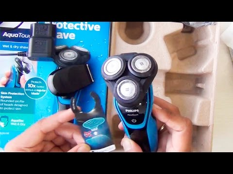 Philips AquaTouch Wet And Dry Electric Shaver S5050/06 Unboxing