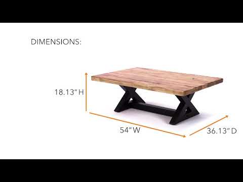 Wesling T873-1 Rectangular Cocktail Table