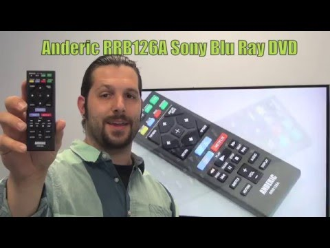 Buy ANDERIC RRB126A for Sony -RRB126A Blu-Ray DVD Player Remote Control