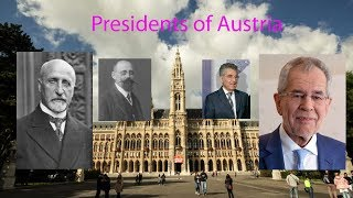 Presidents of Austria