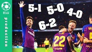 Barcelona DESTROY Real Madrid ● All Goals (5-0 5-1 6-2 4-0 3-0) - El Clasico