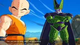 Dragon Ball FighterZ - Cell Roasting Krillin & Android 16