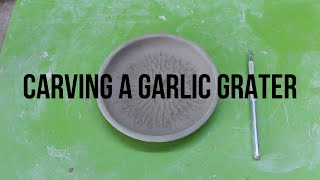 Trimming A Garlic Grater Plate (Handmade Pottery) | Rainyday.Ceramics