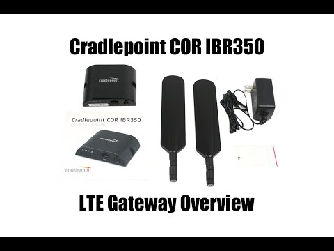 Cradlepoint Cor IBR350 4G LTE Gateway Unboxing