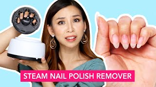 Steam Nail Polish Remover- Does it work?   TINA TRIES IT