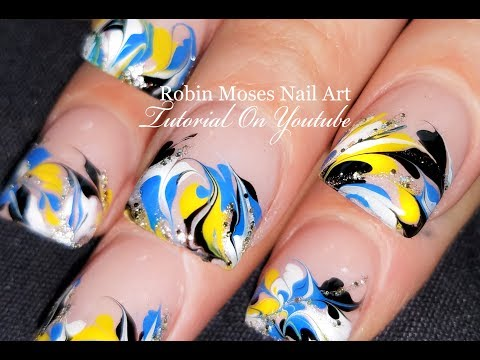 No Water Needed Marble nails   DIY Marbling Nail Art Design Tutorial
