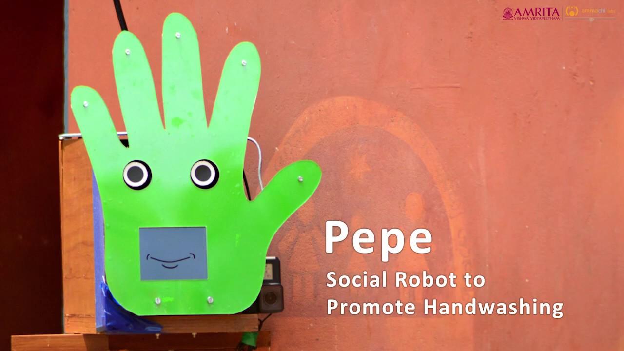 Создан робот, который учит детей правильно мыть руки