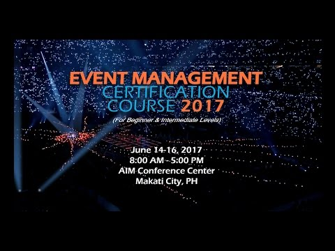 Event Management Certification Course 2017 - YouTube
