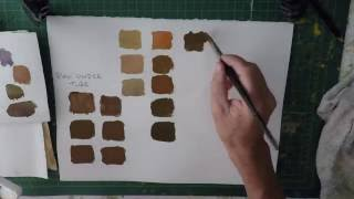 Colour mixing watercolour How to mix colourful browns
