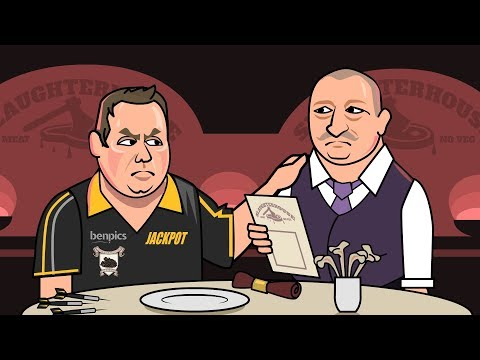 British humour at its finest: Bob Mortimer overhears a darts player ordering food at a restaurant