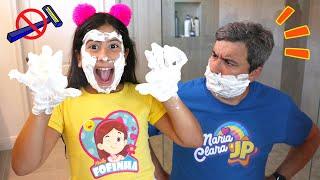 Maria Clara e JP aprendem regras de comportamento em casa   Rules of conduct for children