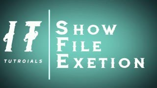How to enable file extension in windows 10