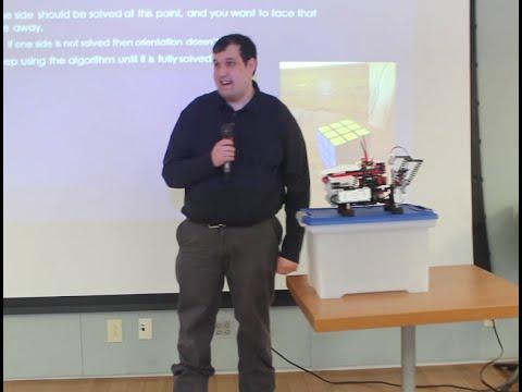 IST Student's Robot solves Rubik's Cube