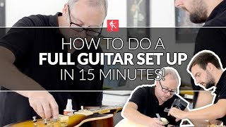 How To Do A Full Guitar Set Up In 15 Minutes - Guitar Maintenance Lesson