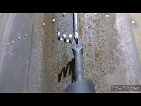 Казанка 5 процесс замены форштевня + обзор пневмомолотка