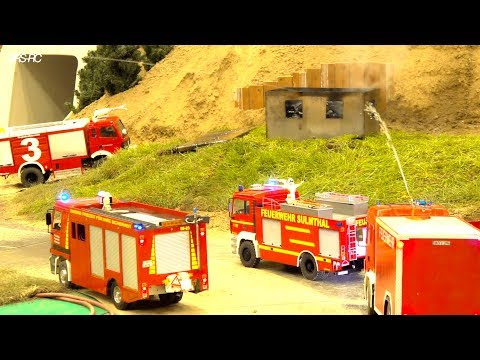 RCEFF I RC FIRE FIGHTERS I HORRIBLE FIRE I  BIG SMOKE AROUND INDUSTRY I RIED MODELLBAU