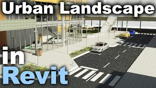 Urban Landscape In Revit Tutorial (Roads, Curbs, Sidewalks, Parking, Cars, Signalisation...)