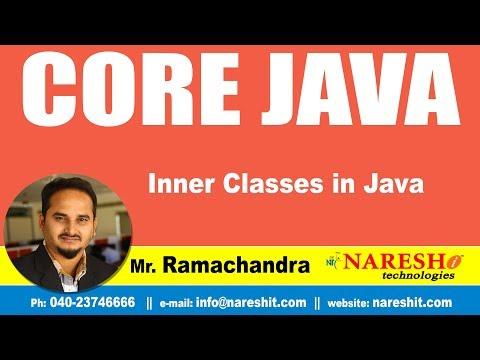 Core Java Tutorias   Inner Classes in Java   by Mr.Ramachander ...