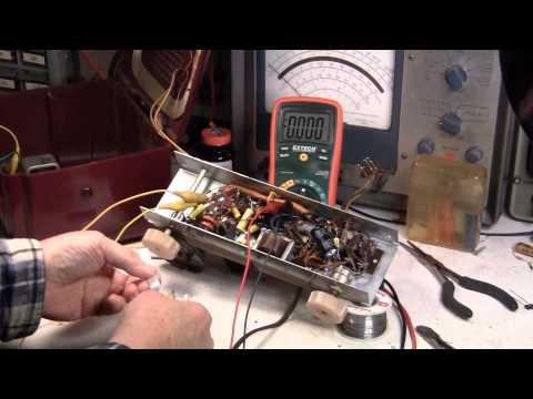 Portable Tube Radio Repair, Critical Step, choosing power