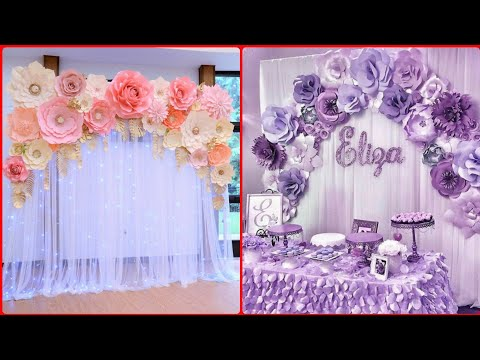 Download Paper Flowers Decoration For Birthday At Home Baby Shower