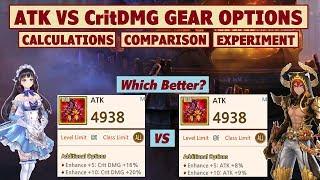 King's Raid - ATK Or Crit DMG Gear Options Better? + Stats Comparison + Damage Test
