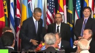 Игнор: Обама не чокнулся бокалом с Путиным HD