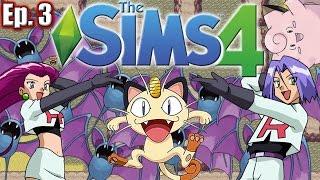 MEETING TEAM ROCKET - The Sims 4: Pokemon Theme (Gen 1) - Ep. 3