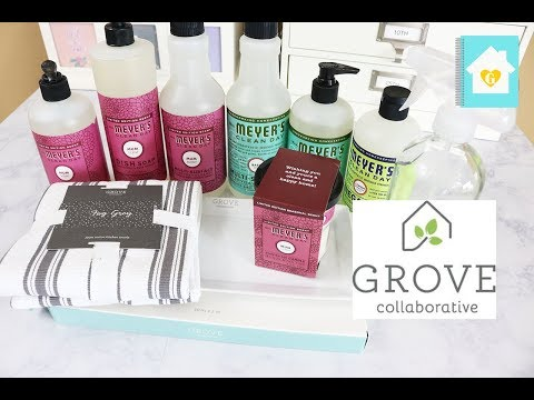 GROVE COLLABORATIVE UNBOXING & FIRST IMPRESSION | NATURAL CLEANING PRODUCTS