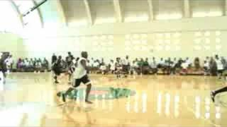 Mike Efevberha Dunk over Keith Closs 7-3'' @ the Drew  Summer League