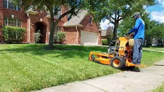 Real time Mowing  at Houston Texas vlog#4