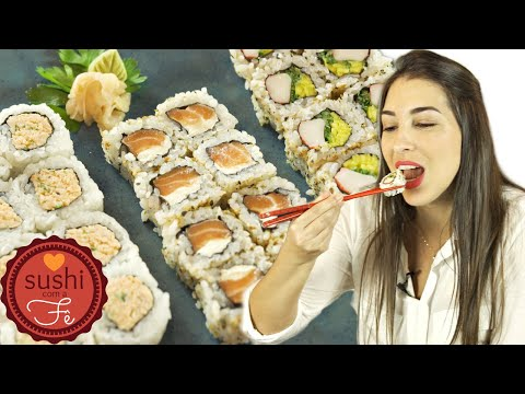, title : 'URAMAKI 3 TIPOS | Como Fazer Sushi | Com a Fê