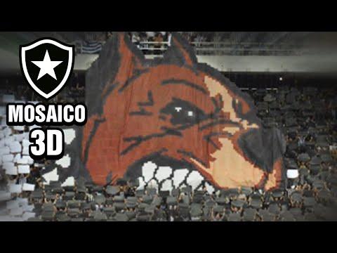 """Mosaico 3D da torcida do Botafogo na partida contra o Colo-Colo Libertadores 2017"" Barra: Loucos pelo Botafogo • Club: Botafogo"