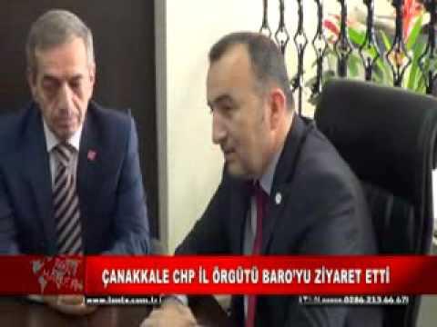 ÇANAKKALE CHP İL ÖRGÜTÜ BARO'YU ZİYARET ETTİ