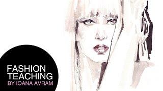 Watercolor Portrait Of Lady Gaga