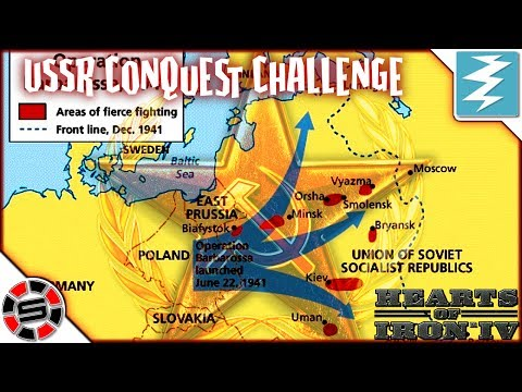 Hearts of Iron IV - How to destroy the Russian frontline 1 8million