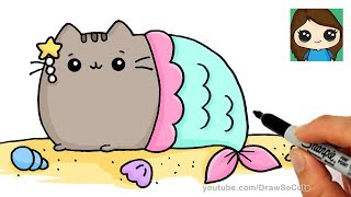 how to draw pusheen cat videos