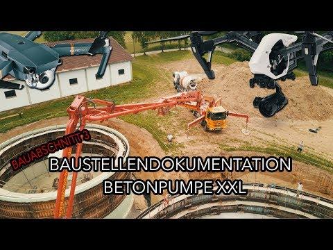 Bau einer Biogasanlage: Betonpumpe XXL HD