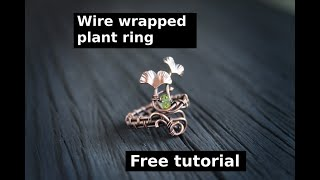 Tutorial Wire Wrapped Ring With Ginkgo Leaves