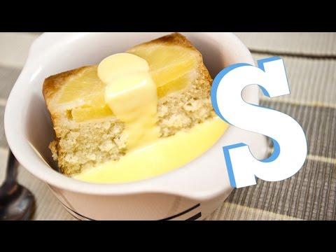 Obrácený ananasový dort