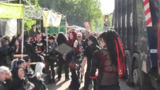 preview picture of video '22. WGT 2013 Wave Gotik Treffen Leipzig MONTAG 20.05.13'