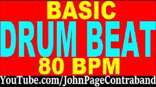 Basic Drum Loop Track 80 bpm 4/4 Half Hour Tool