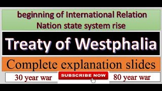 treaty of Westphalia complete lecture with (slides)