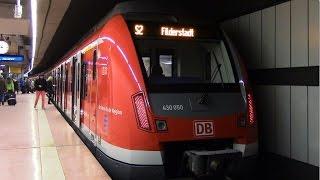 preview picture of video 'Hauptbahnhof (tief) - S-Bahn Stuttgart mit ET 423 und ET 430'