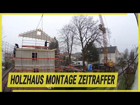 Zeitrafferfilm Montage Holztraggerüst
