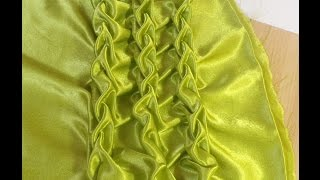 Canadian Smocking,Beautiful Fabric Manipulation Technique.